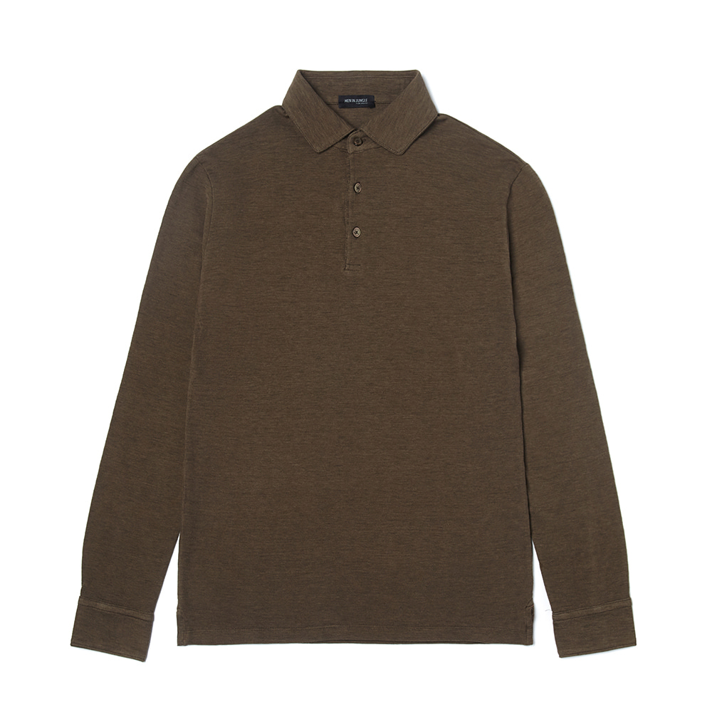Wide collar Pique Shirt